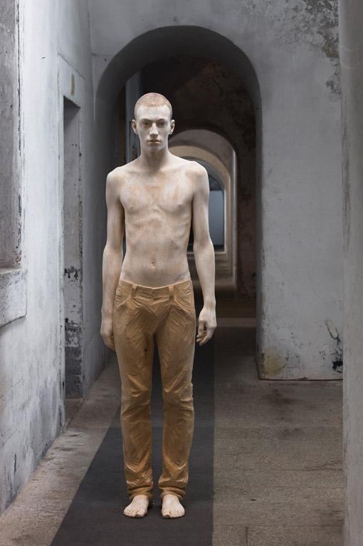 Bruno Walpoth's Stunning Wood Sculpture of a Man