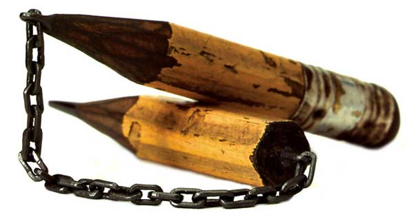 Dalton M. Ghetti's Pencil Whittling Nunchucks