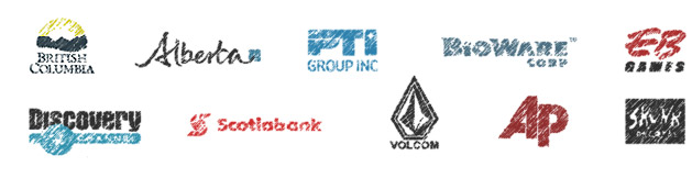 We work with partners and patrons local to Victoria as well as others elsewhere in North America